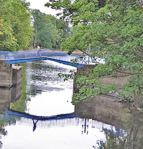 The Blue Bridge on the Foss at its junction with the River Ouse