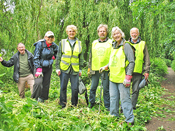 Members clearing Himalayan Balsam